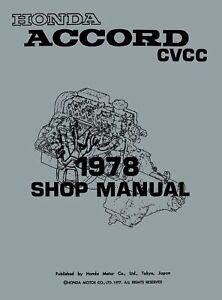 Bishko OEM Repair Maintenance Shop Manual Bound for Honda