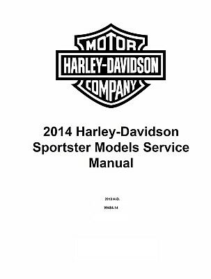 2014 Harley Davidson Sportster Models Factory Service Shop