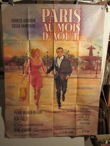 Paris Au Mois D'aout Film : paris, d'aout, AFFICHE, CINEMA, PARIS, D'AOUT, AZNAVOUR
