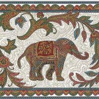 Victorian Ornate Paisley - Elephant Monkey Horse ...