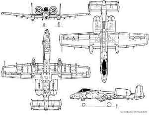 Fairchild Republic A-10 Thunderbolt * 13 x 19 MATTE B&W