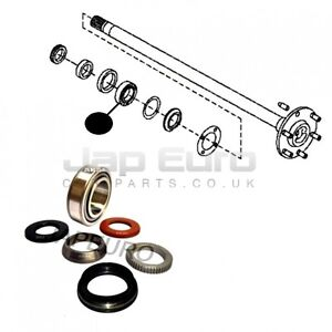 For NISSAN NAVARA 2.5 TD D40 6PC REAR AXLE HALF SHAFT