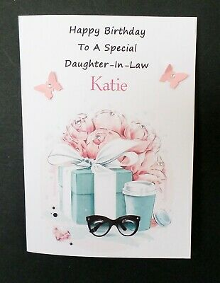 Personalised Daughter In Law Birthday Cards : personalised, daughter, birthday, cards, Handmade, Personalised, Birthday, Daughter, Granddaughter