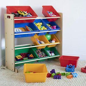details about children s toy organizer kids toy storage unit with bookshelf cabinet rack