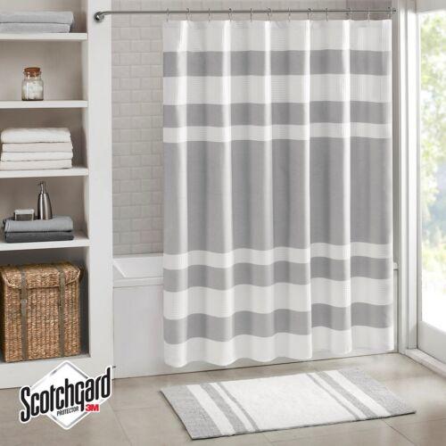 shower bathtub accessories stripe 5 colors blue gray taupe coral aqua waffle weave 72x72 shower curtain home garden