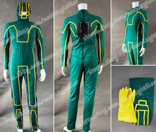 Image Is Loading Kick Ass Cosplay Costume Dave Lizewski Green Outfits