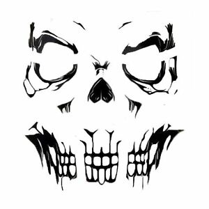 Adults Gothic Skeleton Skull Face Tattoos Transfers SFX