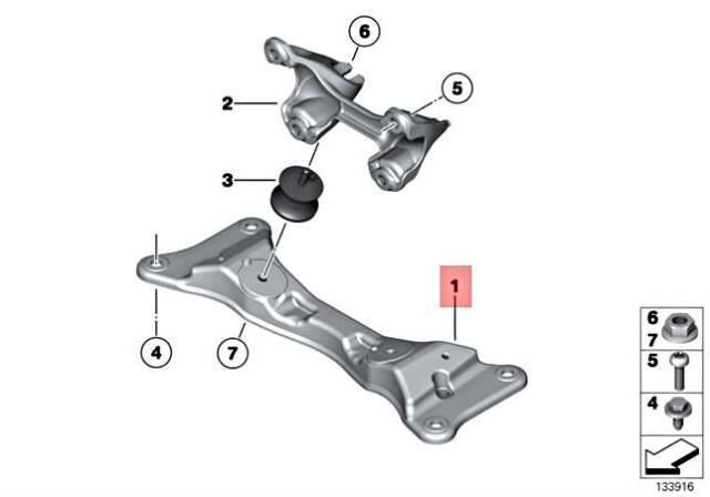 BMW OEM 335i Engine Motor Transmission-Transmission Cross