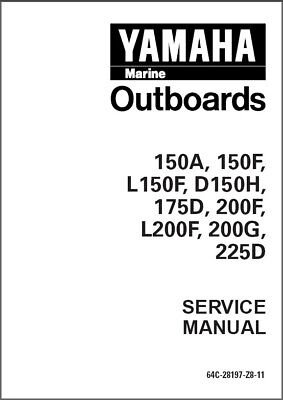 Yamaha 150 175 200 225 2-Stroke Outboard Service Repair