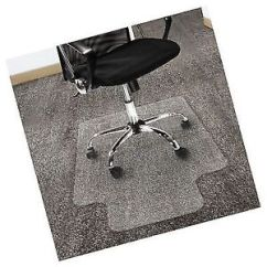 Desk Chair Mat For High Pile Carpet Balance Ball Reviews Office Marshal Polycarbonate With Lip Floors 36