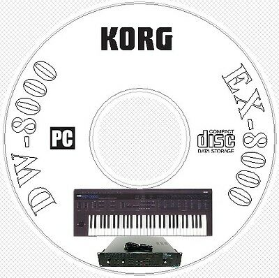 Korg DW-8000 EX-8000 Sound Library, Patches, MIDI Editors
