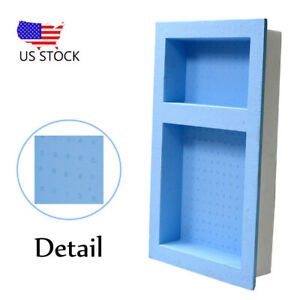 details about 16 x 4 x 24 single double recessed shower niche ready to tile waterproof shelf