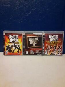Guitar Hero Ps3 Bundle : guitar, bundle, Games, Bundle, Guitar, Aerosmith, World