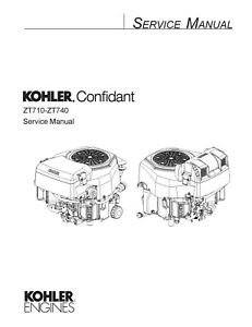 KOHLER CONFIDANT ZT710-ZT740 SERVICE REPAIR PAPER MANUAL