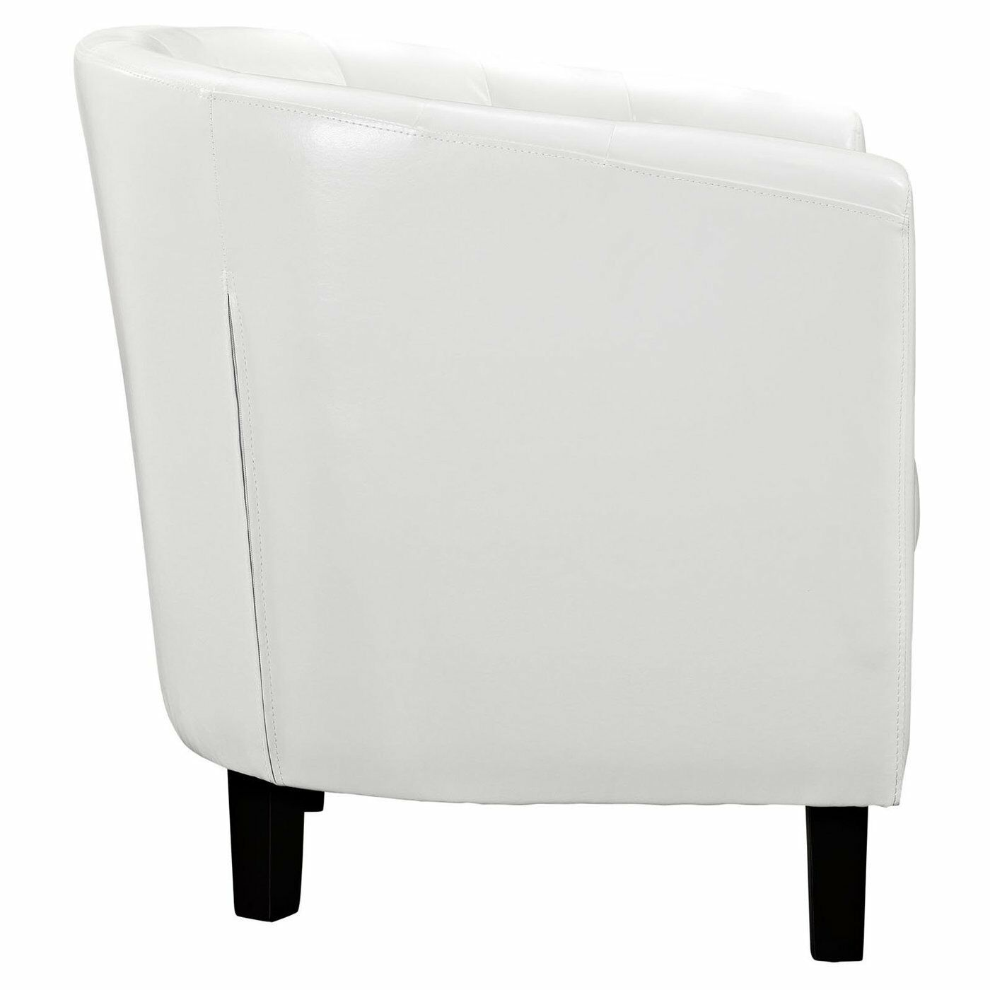 White Tufted Accent Chair Leather Accent Chair Modern White Contemporary Tufted Club