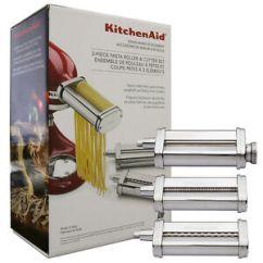 Kitchen Aid Pasta White Island Cart Kitchenaid 3 Piece Roller Cutter Attachment Set Silver Image Is Loading Amp