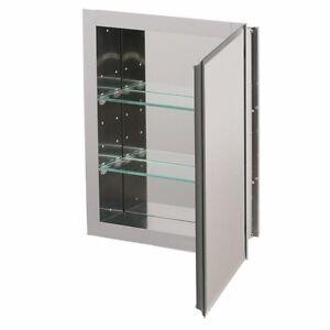 Kohler Aluminum Recessed Medicine Cabinet Shelves Mirror