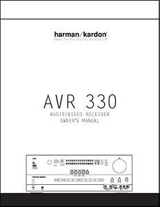 Harman Kardon AVR 330 AV Receiver Owner's Manual