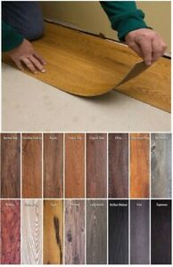 details about vinyl floor planks 10 pack sticky flooring luxury like real wood peel stick tile