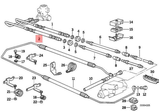 Genuine BMW E32 E34 Leveling Device / Tubing Return Pipe