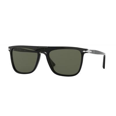 Persol 3225/S 3225S 56 95/31 Schreibmaschine Black Sunglasses Brille Grau Grün | eBay