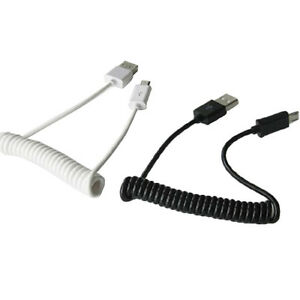 Samsung Android Micro USB Spring Spiral Data Charger