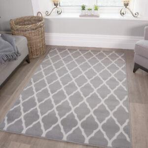 details sur plain neutre ton bon marche treillis gris taupe blanc salon grand tapis de couloir afficher le titre d origine