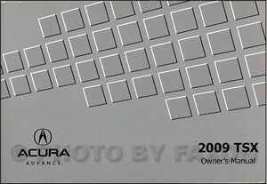 2009 Acura TSX Owners Manual NEW Original Owner Guide Book