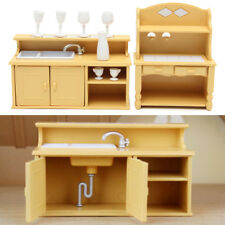 kitchen miniature kidcraft vintage cabinets plastic dollhouse furniture dining set item 1 doll house room decor