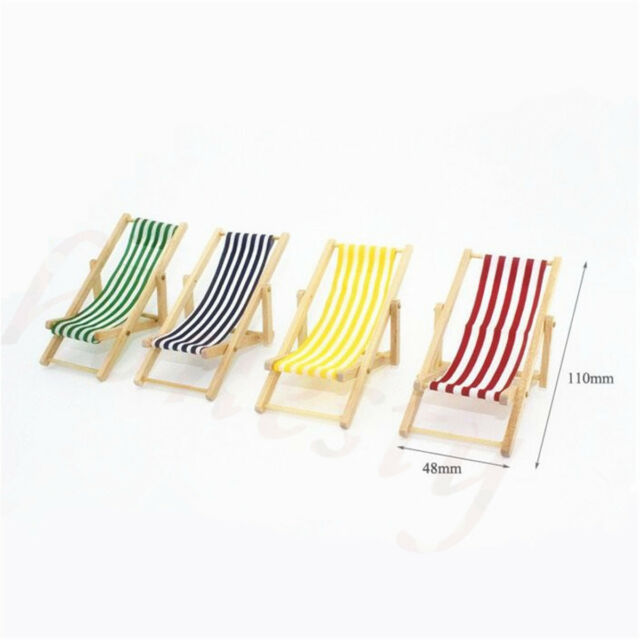 how to make a wooden beach chair metal dining diy dolls house miniature foldable deckchair lounge 1 12