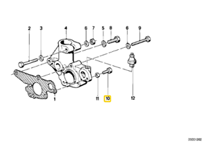 Original bmw hexagon bolt manual transmission m6x20-8.8
