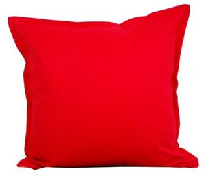 details about two red throw pillows with insert cotton cushion sofa 18 x18 couch pair