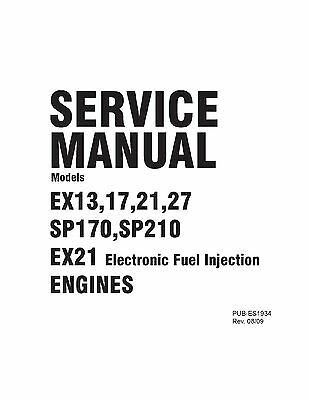 Subaru Robin Engine Service & Repair Shop Manual EX13 EX17