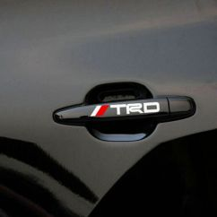 Toyota Yaris Trd White Grand New Veloz 1.5 Silver 4 Ps Door Handle Sticker Racing Badge For Mr2 Auris Prius