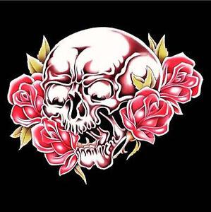 skull roses wall banner
