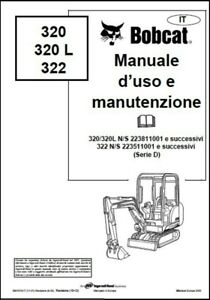 Libretto Manuale uso e manutenzione BOBCAT 320 320L 322 in