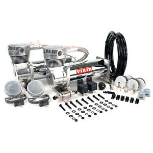 VIAIR 480C DUAL PACK CHROME AIR RIDE BAG SUSPENSION
