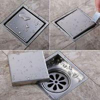 Moderne Square Badezimmer Dusche Boden Abfluss ...