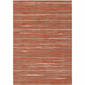 details sur tapis de jardin broc arty terracotta rouge pour exterieur et interieur
