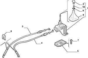 Gear shifter et câbles, Boot, Knob FIAT PUNTO 1999-2003