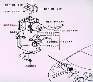 mitsubishi 2 4l engine diagram ford ranger wiring genuine oe abs brake modulator eclipse 2006 2009 image is loading