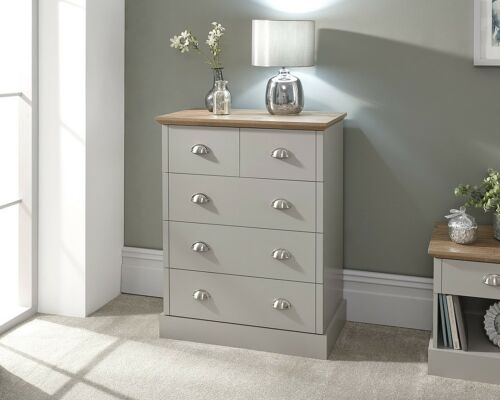 furniture kendal 2 3 drawer chest of 5 drawers country style bedroom furniture grey oak home furniture diy quatrok com br