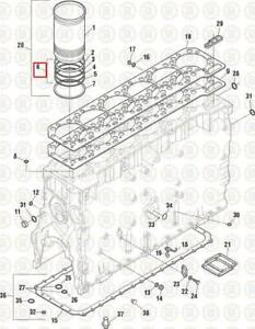 Caterpillar Engine 3406E/C15/C16/C18 (C18) KIT,Seal Liner