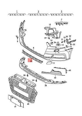 Genuine AUDI A3 S3 Sportback Lim. quattro. Grille Satin