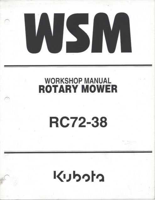 Kubota RC72-38 ROTARY MOWER WORKSHOP SERVICE MANUAL 97897