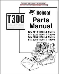 BOBCAT T300 TURBO TRACK LOADER SERVICE PARTS MANUAL SN