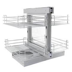Kitchen Wire Storage Plum Decor Magic Corner Baskets Pull Left Hand Slide Out Image Is Loading
