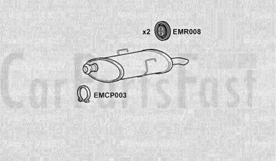 Exhaust Rear Box Peugeot 406 2.0 Petrol Saloon 02/1996 to