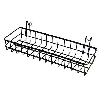 Mesh Wall Metal Wire Basket, Grid Panel Hanging Tray, Wall