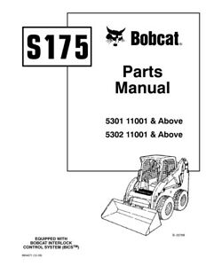 New Bobcat S175 Illustrated Parts List Manual FREE